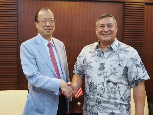 Guam Governor Eddie Calvo and The Delegation visited CMUH